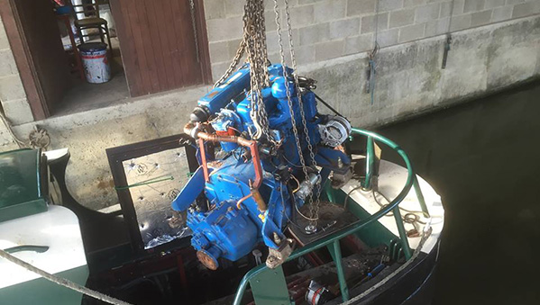 Engine removal ready for new Replacement Beta Marine Diesel