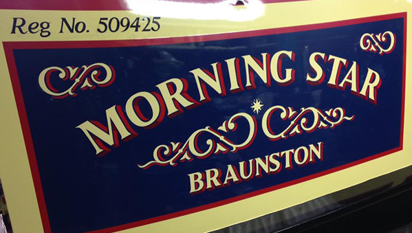 Morning Star- Full Repaint and signwriting